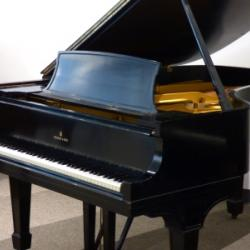 Steinway Model D piano black side view