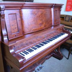 Refurbished vintage Weber upright piano with a beautiful case