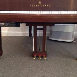 Young Chang Grand Piano Walnut Pedals