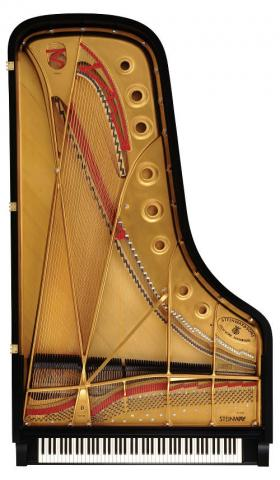 Steinway Model D piano top view